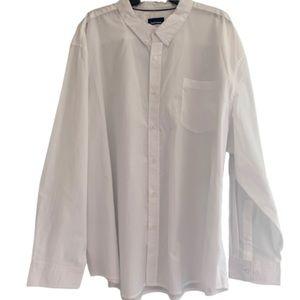 Basic Editions 4XL Work White Shirt Men's Plus Sz